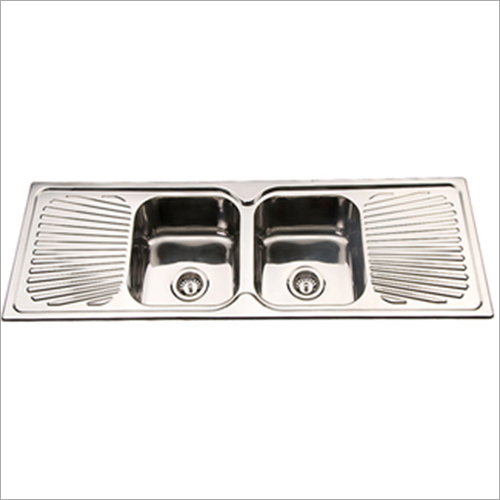 Double Bowl Drainboard Sink