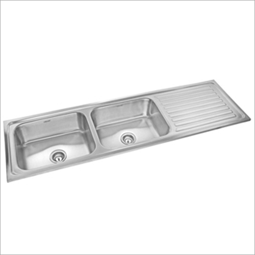Double Bowl Drainboard Steel Sink