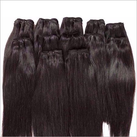 Virgin Remy Natural Black Straight Wefts