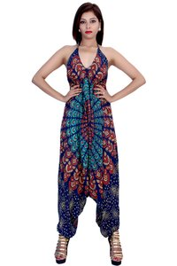 Rayon Mandala Green Color Jumpsuit