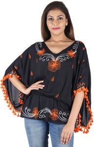 Rayon Embroidery Kaftan Tops