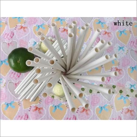 Plain White Paper Straw