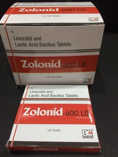 Linezolid 600mg+Lactic Acid Bacillus 120 Million Spores