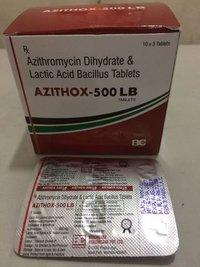AZITHROMYCIN  500 MG DIHYDRATE & LACTIC ACID BACILLUS 120 MS TAB