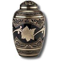 Brass Beautiful Cremation Urns - Black/Golden