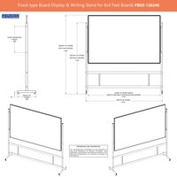 Fixed-type Board Display Stand for 4x8 Feet Board
