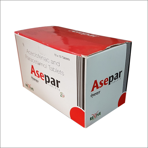 Asepar, Aceclofenac and Paracetamol Tablets