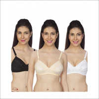 Women's Full Coverage Black Bra