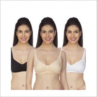 Johnson Women's Full Coverage Black Bra( JH-4 Black )