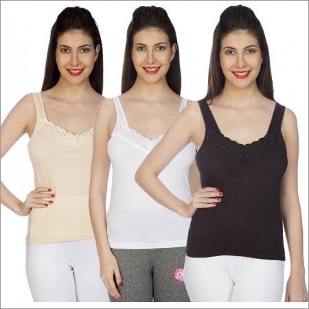 Ladies 100% Comed Knitted Classic Slip Set