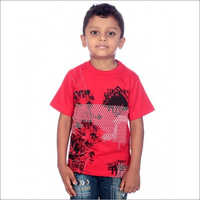 Boy Light Red 100% Cotton T-Shirt