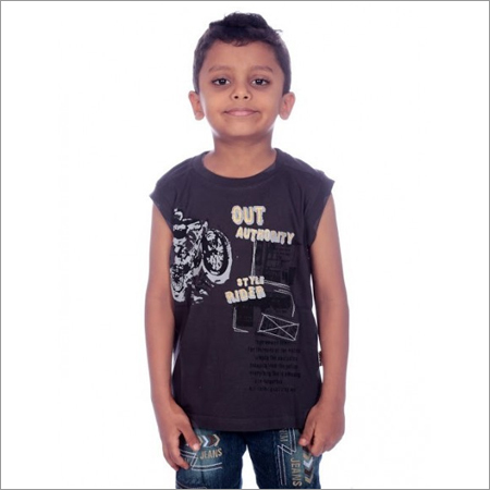 Boy Grey Half Sleeve 100% Comed Knitted Cotton T-Shirt