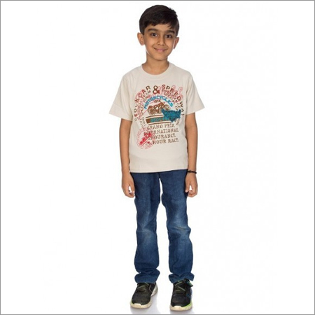 Boy 100% Comed Knitted Cotton T-shirt