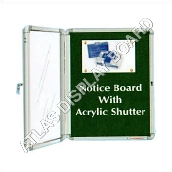 Notice Board With Acrylic Shutter
