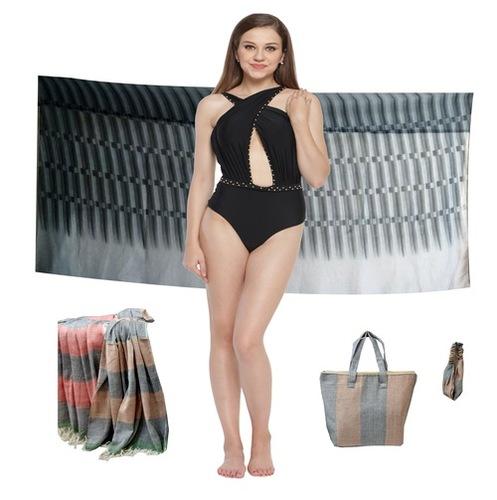 Knitted Solid Colour Bikini