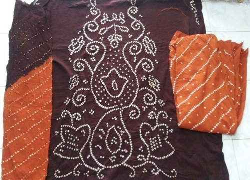 Handicraft Bandhej Dress Material