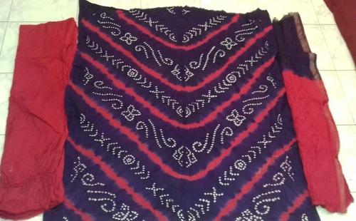 Hand Made Bandhej Dress Material