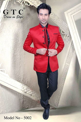 Men Red Color Jodhpuri Suit