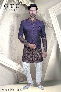 Men Pattern Western Sherwani