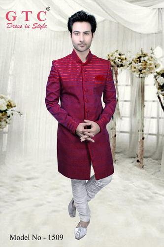 Mens Pattern Indo Western Sherwani
