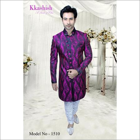 Mens Pattern Work Indo Western Sherwani