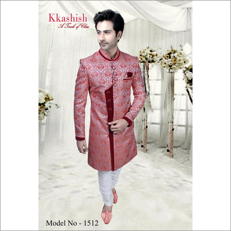 Men's Pattern Work Designer Sherwani