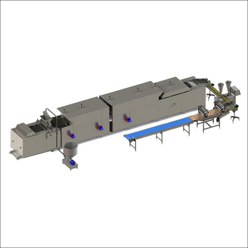 Automatic line for eclair and profiterole production