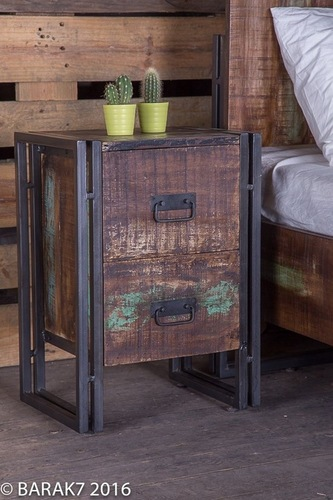 Industrial bedside 2 Drawer