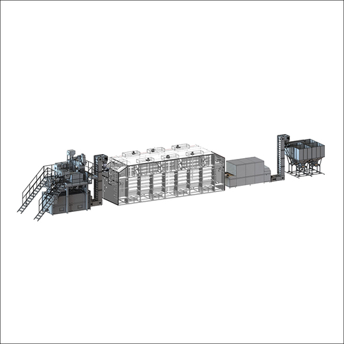 Automatic production lines for potato pellets