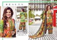 PASHMINA JAQ PRINT DRESS MATERIALS
