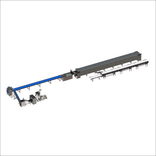 Universal line for flour snacks production