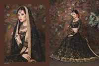 Black Bridal Wear Lehenga Choli