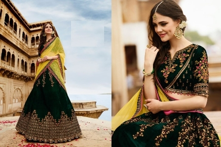 Bridal Wear Black Designer Lehenga Choli