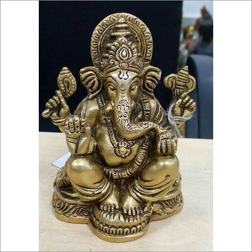 Brass Ganpati Table Statues