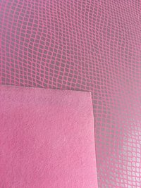 Transfer Foil Film on Non Woven PU Leather