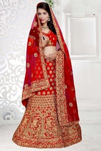 Bridal Wear Full Embroidery Designed Lehenga