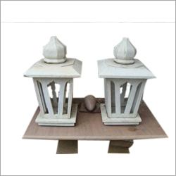 White Stone Lamp