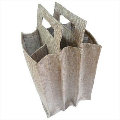 Jute Wine Multi Bottle Bag