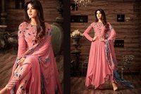 Peach Pink Anarkali Suit