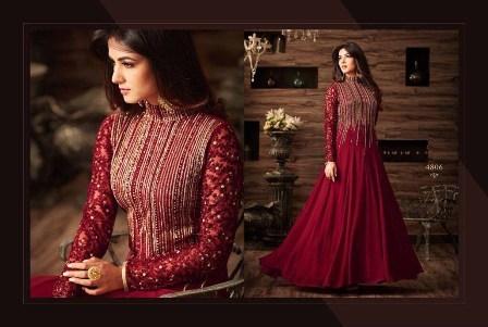 Maroon Designer Anarjkali Suit