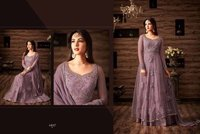 Purple Designer Anarkali Suit