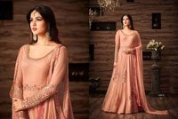 Light Cream Designer Anarkali Suit