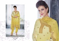 Yellow Embroidery Designed Salwar Suit