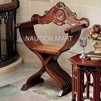 Savonarola Brown Accent Chair By Nauticalmart