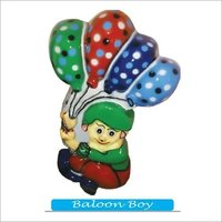 Balloon Boy Fibre Cut Out Dustbin