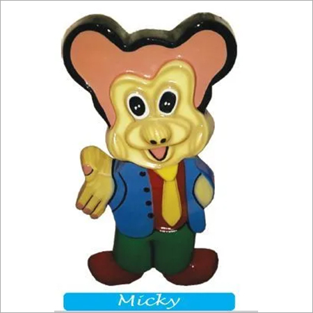 Micky Fibre Cut Out Dustbin