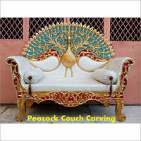 Peacock Couch Carving Wedding Chair