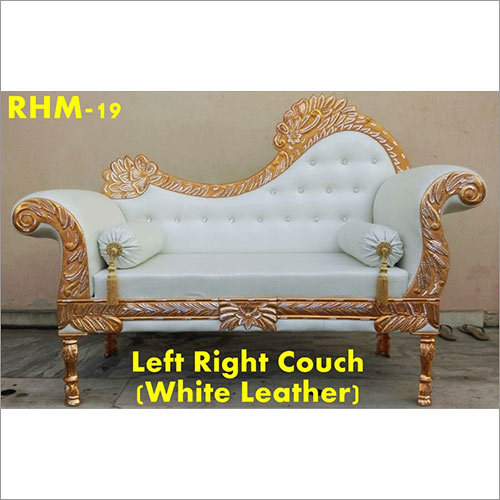 White Lather Vip Couch Wedding Chair