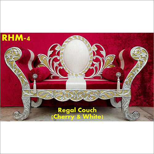 Red Regal Couch Wedding Chair