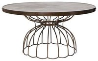 Industrial Round Top Dining Table